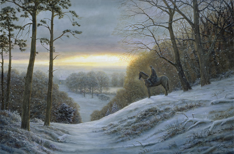 Stopping By Woods On A Snowy Evening Gerry Hillman